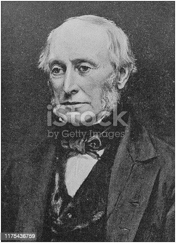 Antique portrait of famous men: William George Armstrong