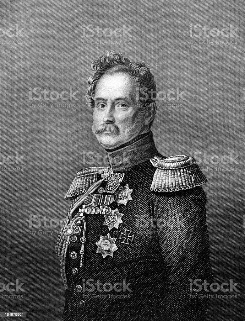 Antique Portrait of Russian Count Orlov circa 1850s royalty-free stock photo