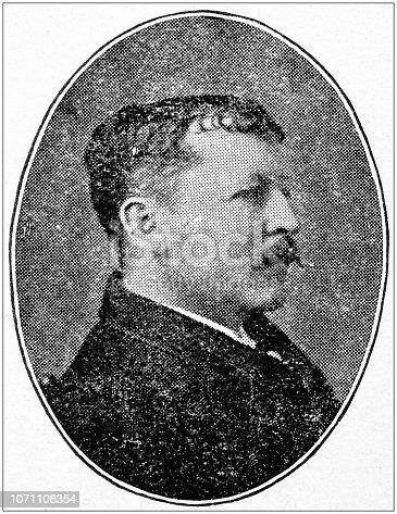 Antique portraits of important people - American authors: Thomas Bailey Aldrich