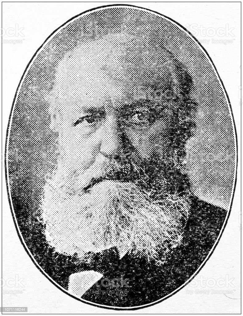 Antiguos retratos de personas importantes - compositores: Charles Gounod - foto de stock