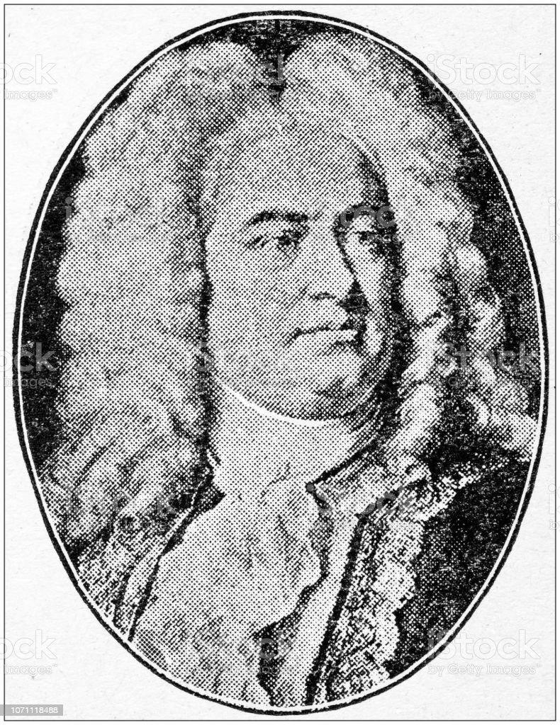 Antiguos retratos de personas importantes - compositores: George Frideric Handel - foto de stock