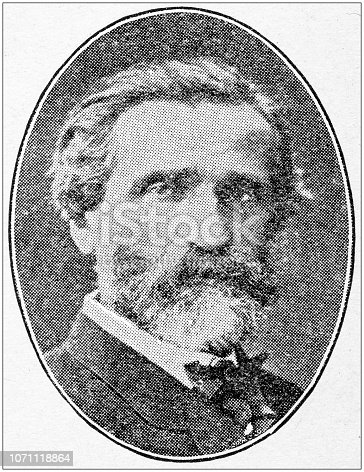 Antique portraits of important people - Composers: Giuseppe Verdi