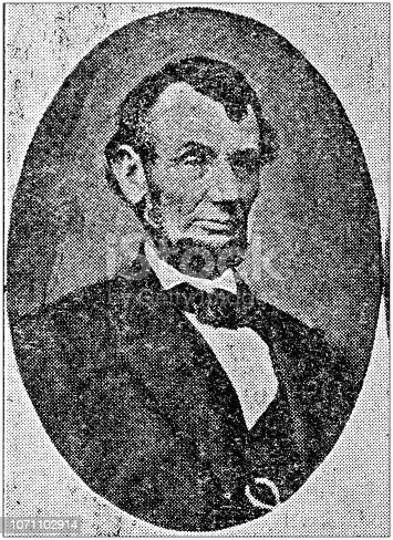 Antique portraits of important people - President of the United States: Abraham Lincoln