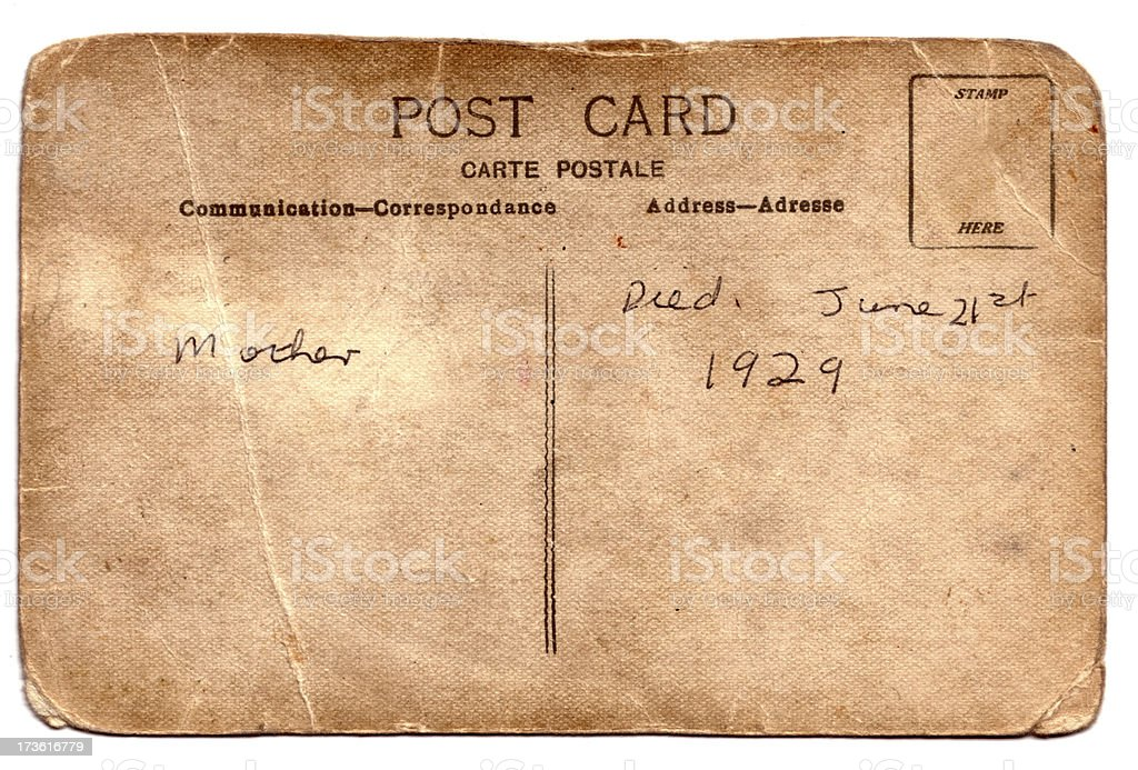 Antique Post Card royalty-free stock photo