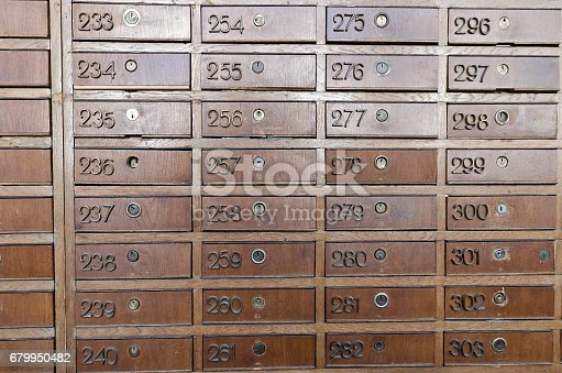 istock Antique post office boxes 679950482