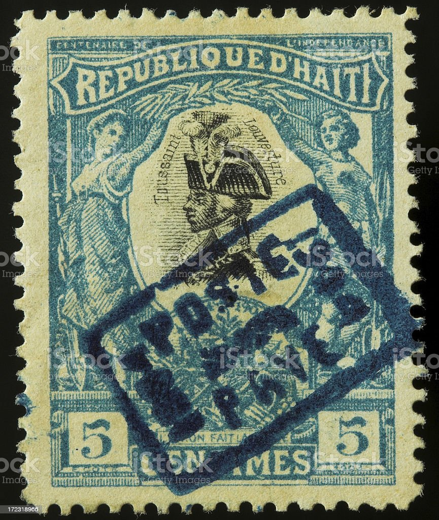 Antique postage stamp from Haiti royalty-free stock photo