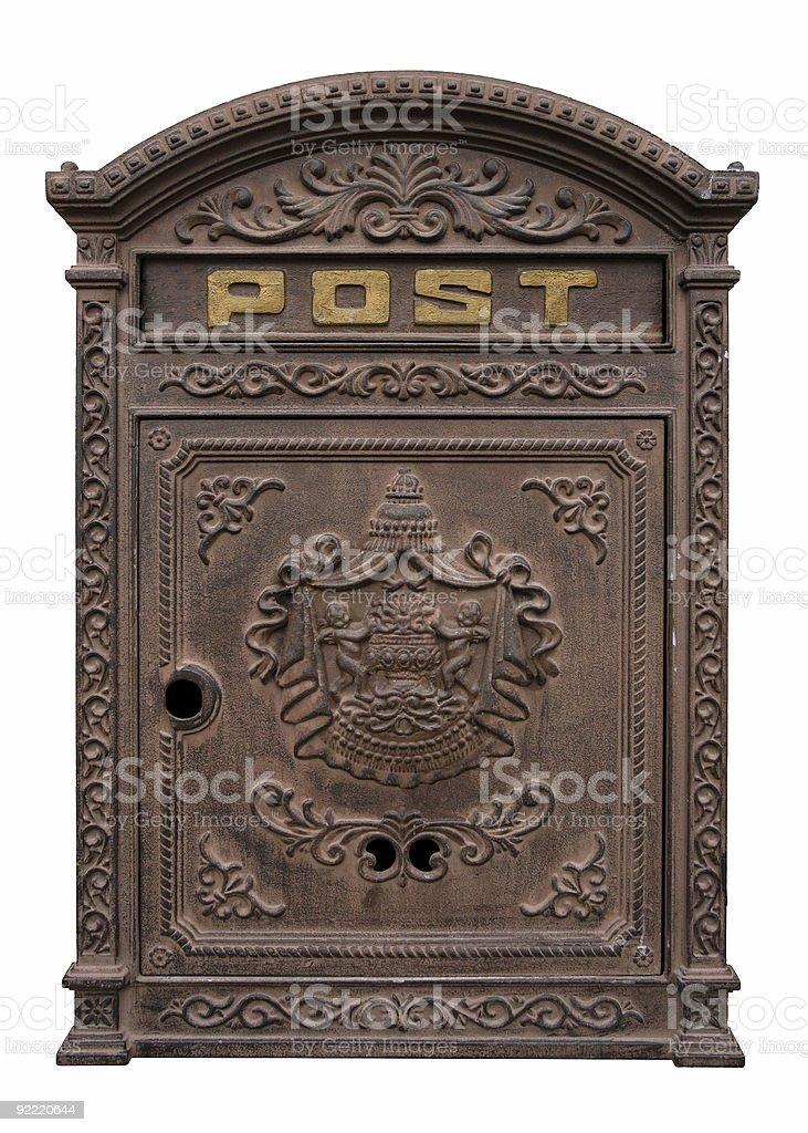 Antique Postbox Stock Photo