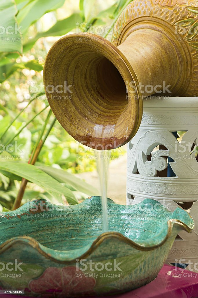 antique pot use for lavatory in toilet royalty-free stock photo