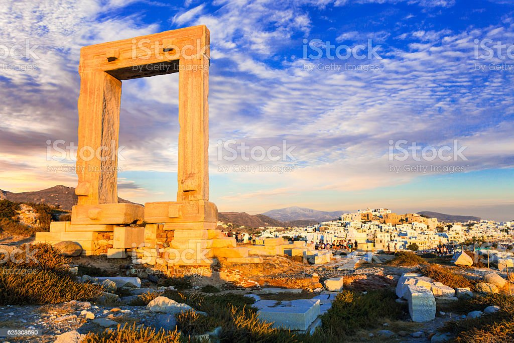 antique Potara gates in Naxos island - Photo