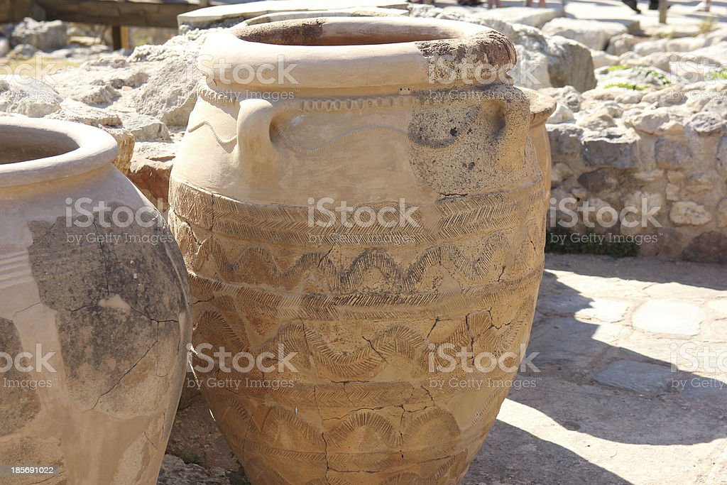 antique pottery depicting royalty-free stock photo