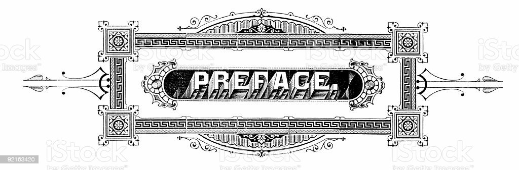 Antique Preface royalty-free stock photo