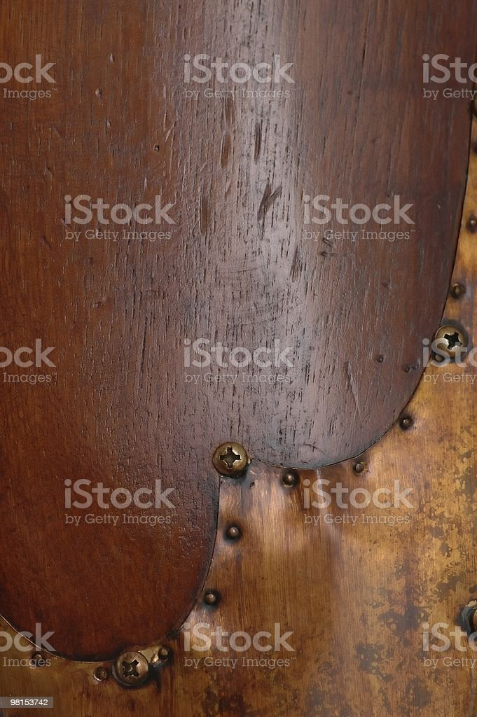 Antique Propeller Grunge royalty-free stock photo