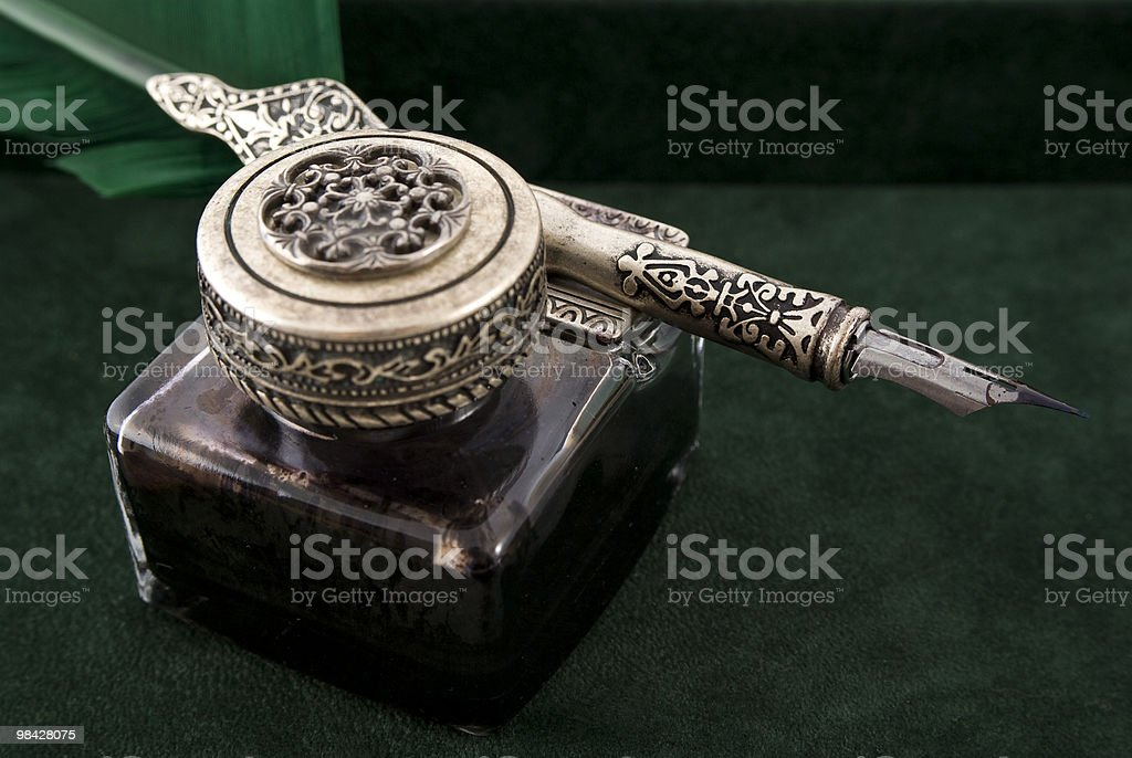 antique quill and ink royalty-free stock photo