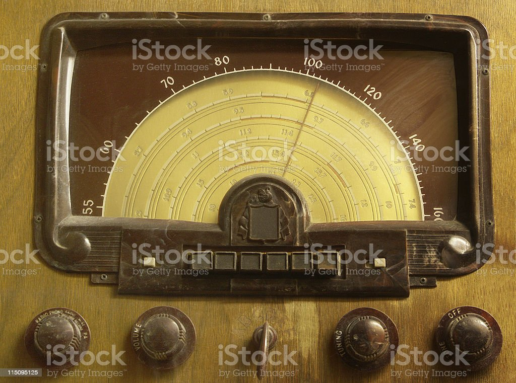 Antique Radio Front stock photo