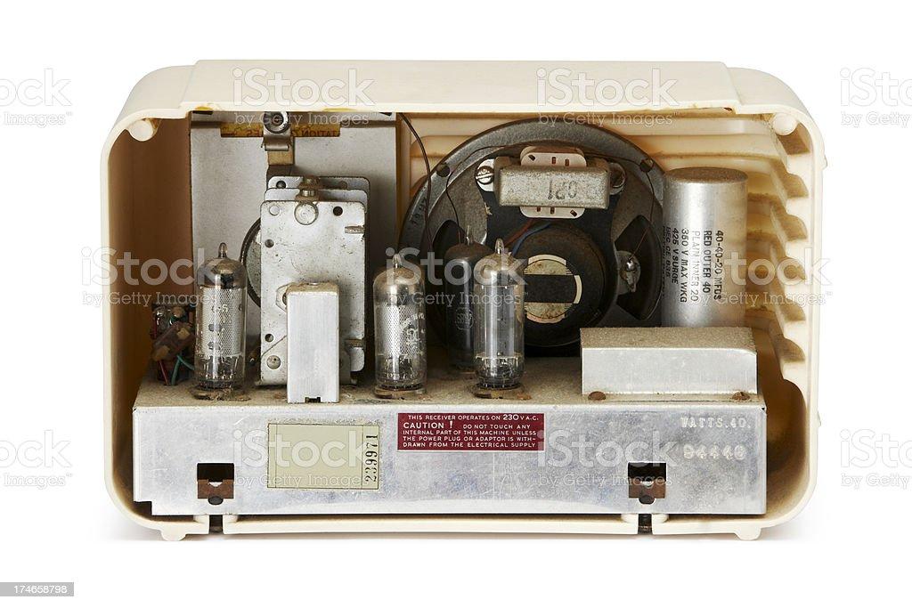 Antique Radio internal workings royalty-free stock photo
