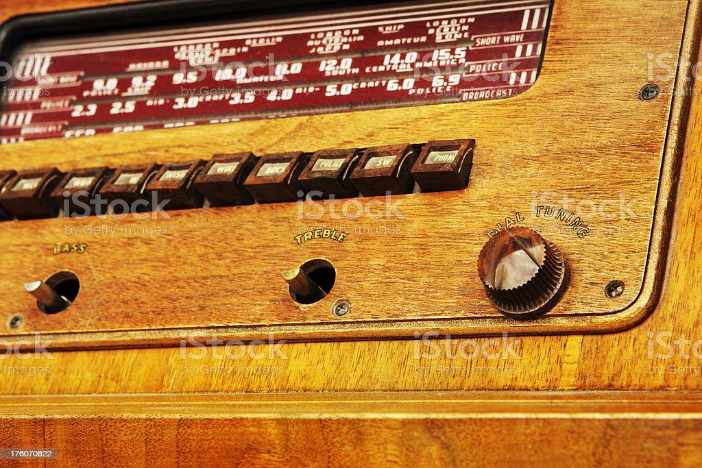 Antique Radio Music Electronics royalty-free stock photo
