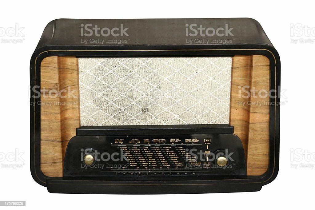 radio antico - foto stock