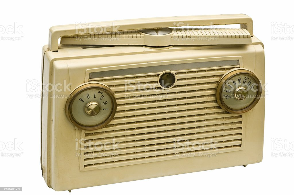 antique radio royalty-free stock photo
