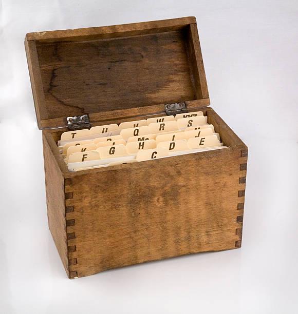 antique recipe card holder