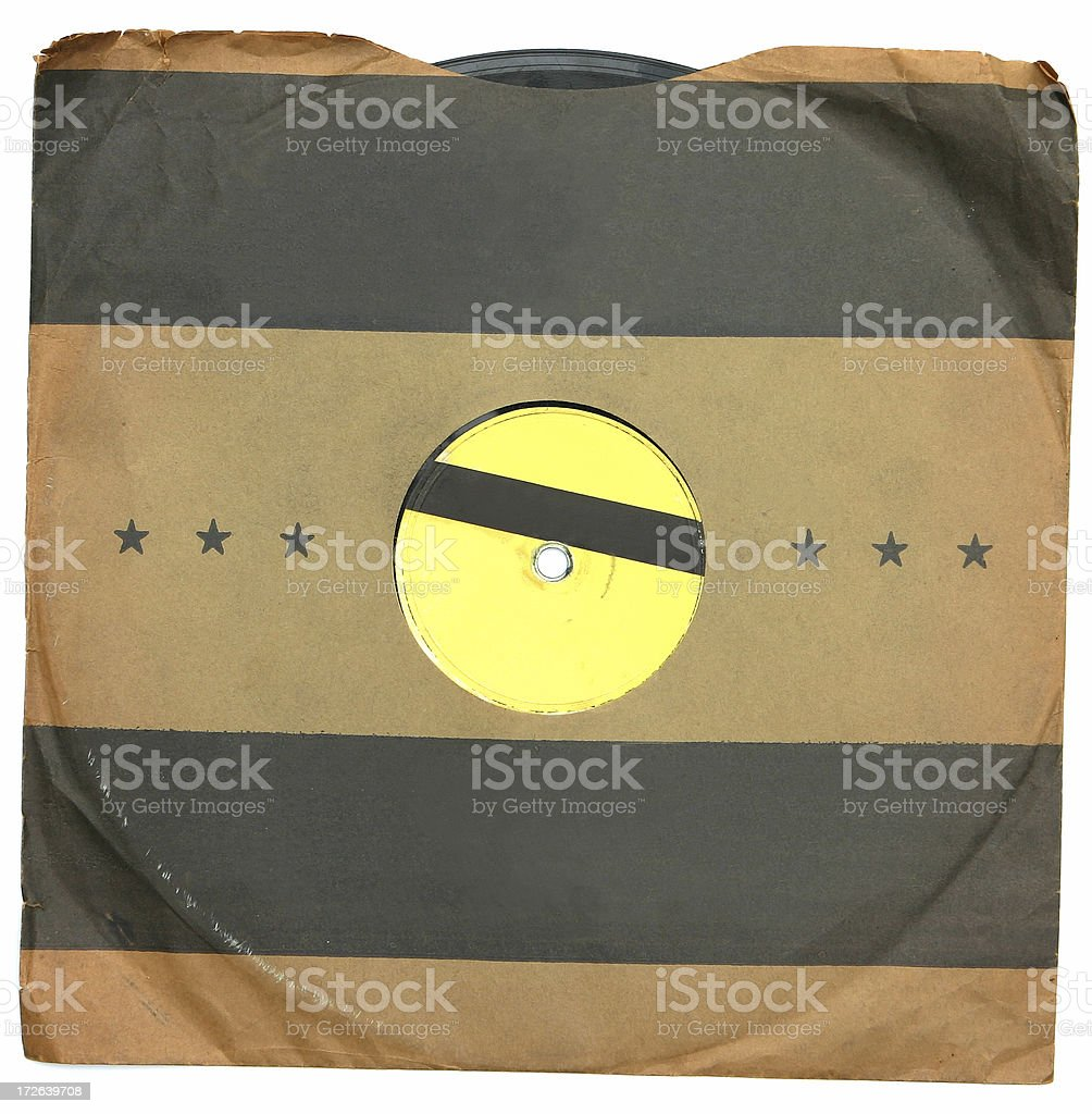 Antique Record with Sleeve royalty-free stock photo