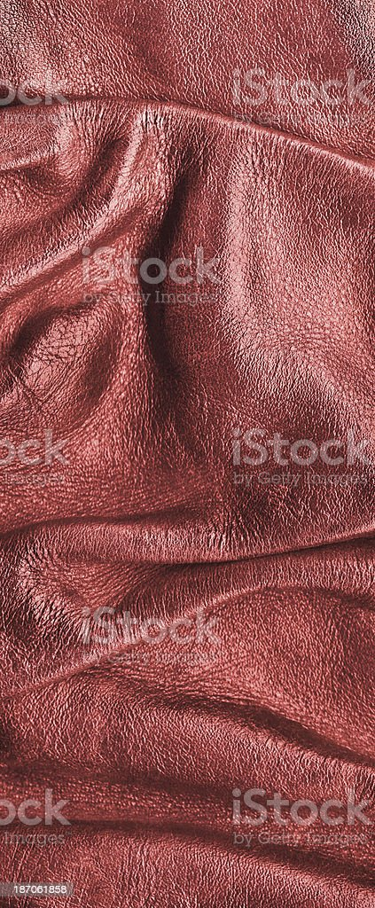 Antique Red Cowhide Crumpled Wizened Grunge Texture royalty-free stock photo