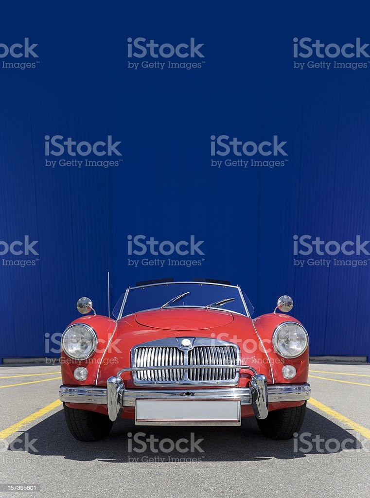 Antique red oldtimer stock photo
