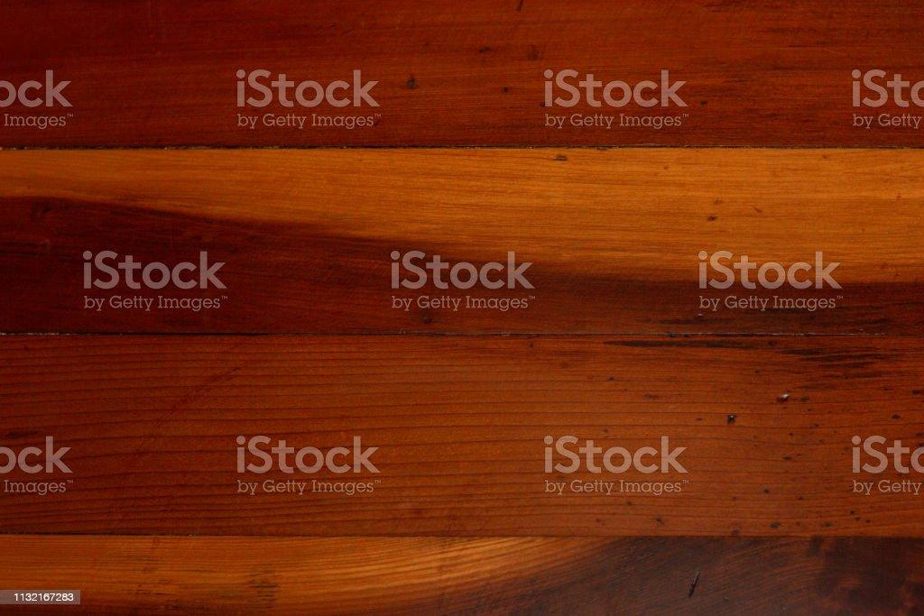 Antique Redwood Floor Boards Background stock photo