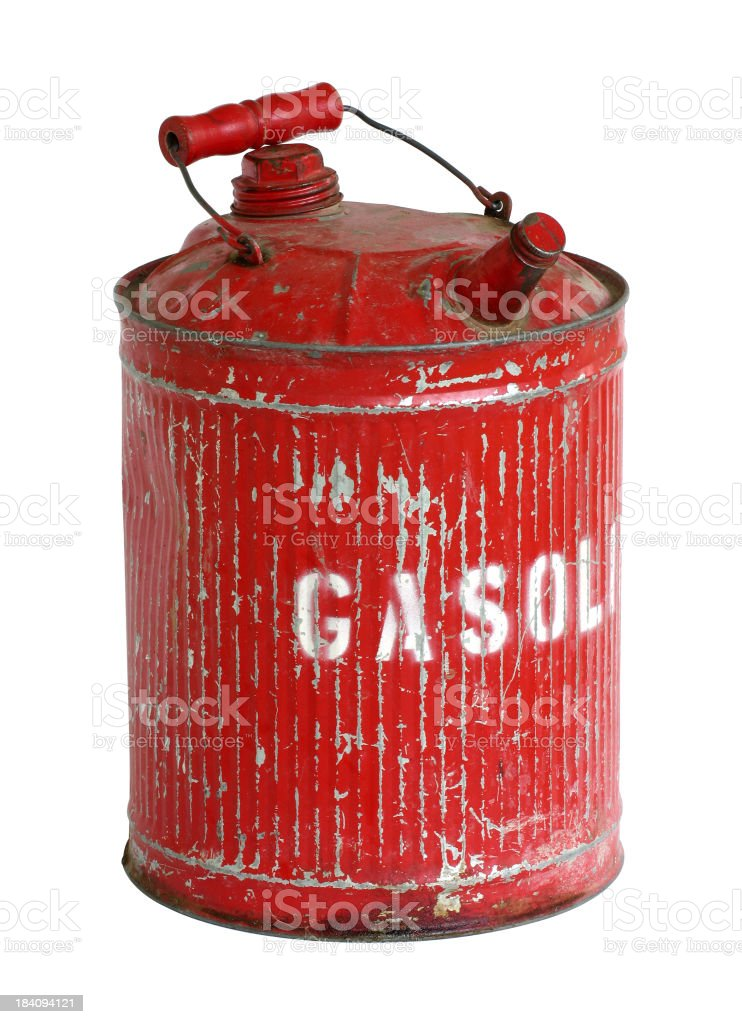 Antique Retro Gerry Can stock photo