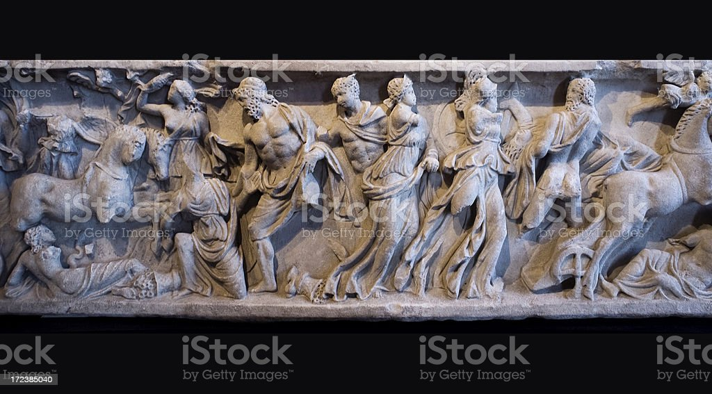 Antique Roman relief royalty-free stock photo