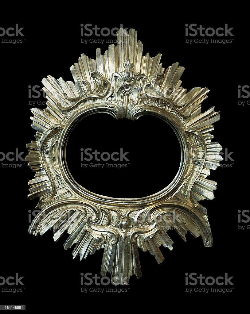 antique round golden frame royalty-free stock photo