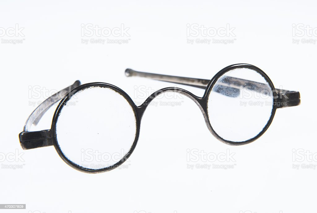 antique round spectacles royalty-free stock photo