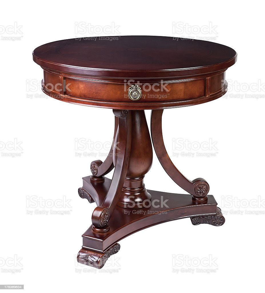 Picture of: Antique Round Table Stock Photo Download Image Now Istock
