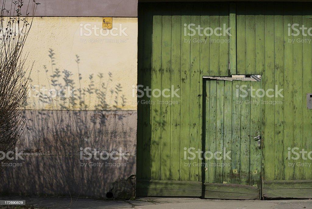 Antique Rural Door stock photo