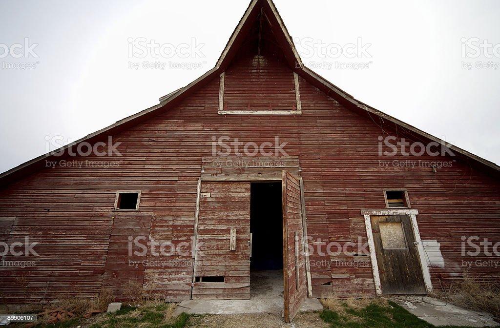 Античный сельских винтажный красный barn сцен Стоковые фото Стоковая фотография