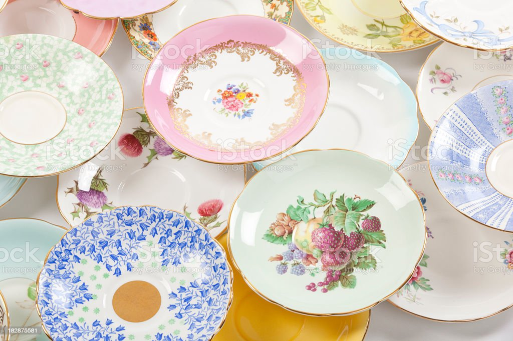 Antique saucer royalty-free stock photo