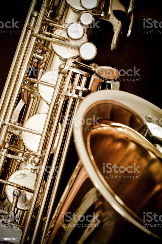 Antique Saxophone stock photo