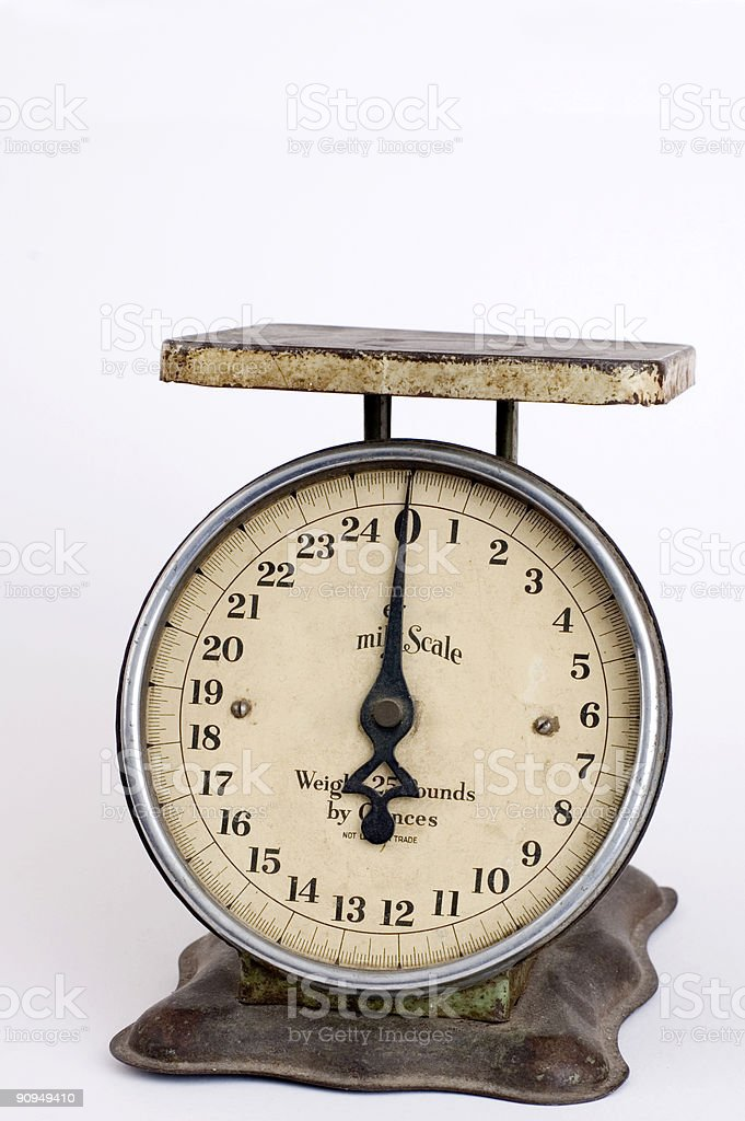 Antique scale stock photo