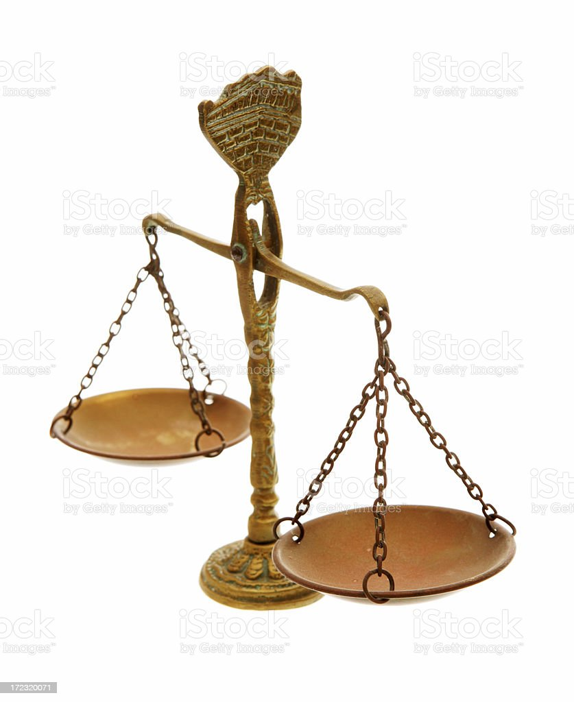 Antique Scales royalty-free stock photo