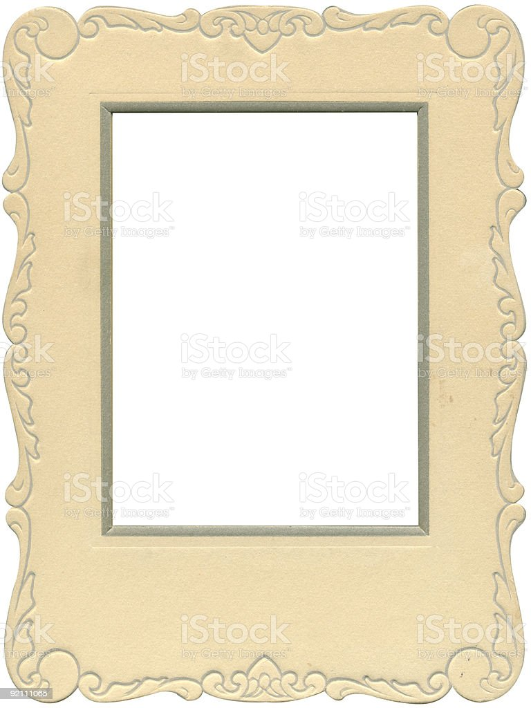 Antique scalloped frame royalty-free stock photo