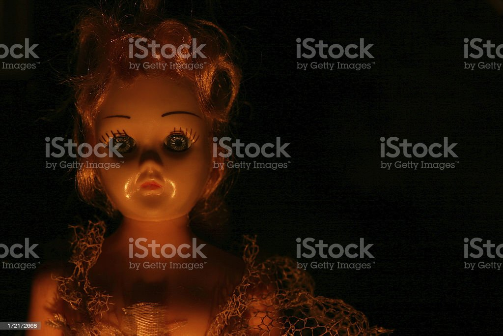 Antique Scary Doll stock photo