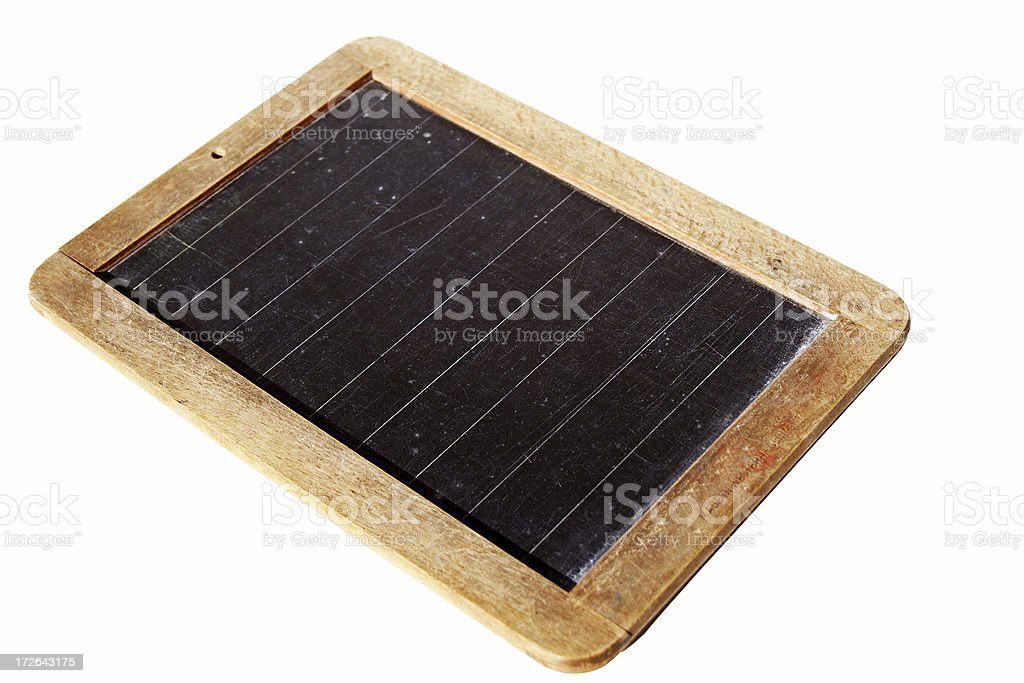 Antique school slate: isolated with path royalty-free stock photo