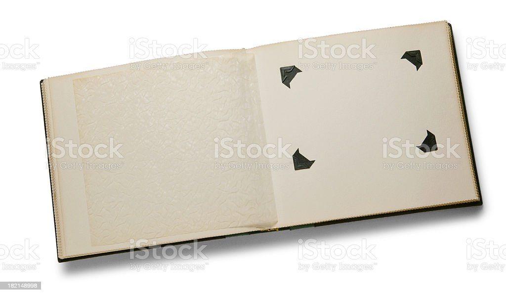 Antique scrapbook 1 royalty-free stock photo