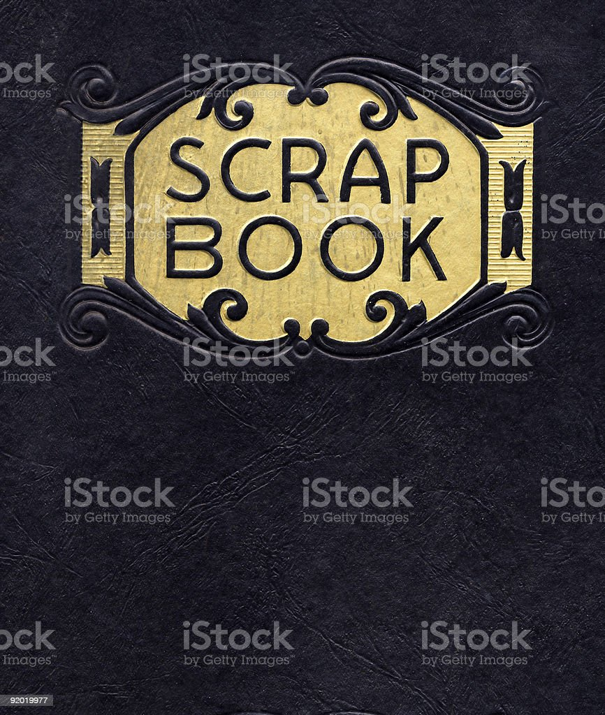 Antique Scrapbook, Circa 1890 (no longer under copyright) royalty-free stock photo