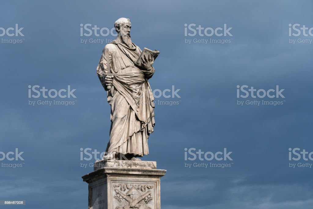 Antique sculpture in Rome, Italy stock photo
