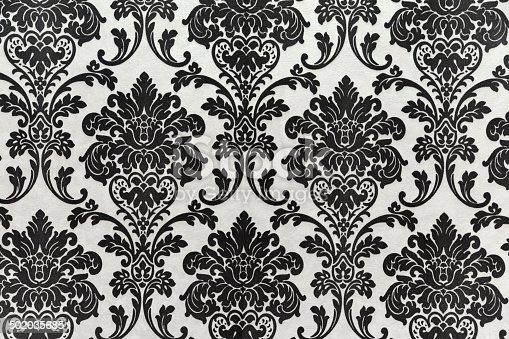 istock Antique seamless wallpaper pattern, black 502035685
