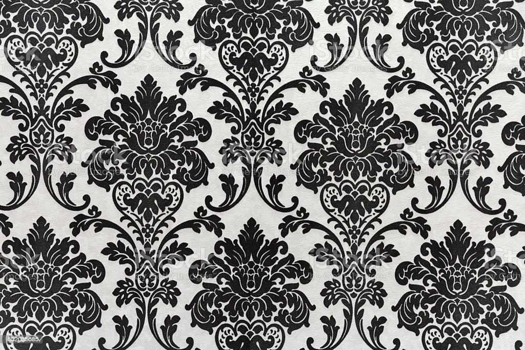Patrón de papel tapiz sin costuras de antigüedades, negro - foto de stock