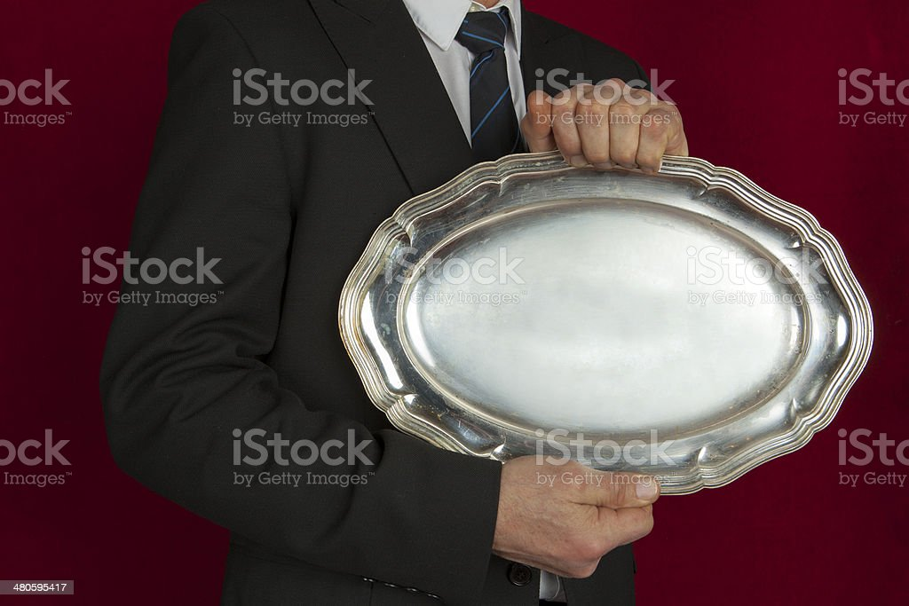 Antique serving tray royalty-free stock photo