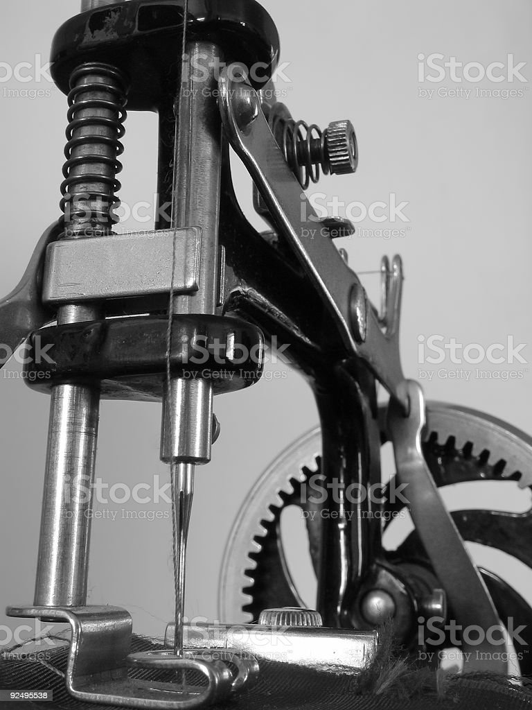 Antique sewing machine 1 royalty-free stock photo