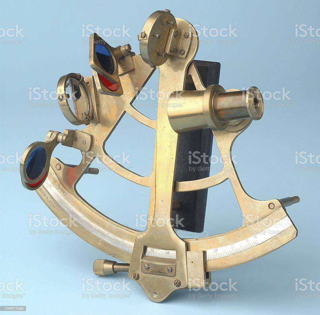 Antique sextant stock photo