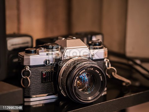 antique shop sold the old slr camera with lens